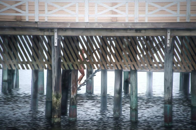 Architectural Column Day Built Structure Architecture Water Underneath No People Indoors  Below Pillar Sky Nature Nikon Fine Art Photography Fine Art ArtWork Varberg Kallbadhus Varberg