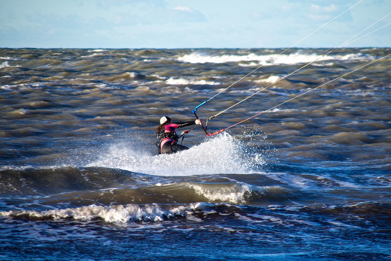 Adult Adults Only Aquatic Sport Competition Day Kitesurfing Motion Nature Outdoors People Real People Sea Sky Sport Water