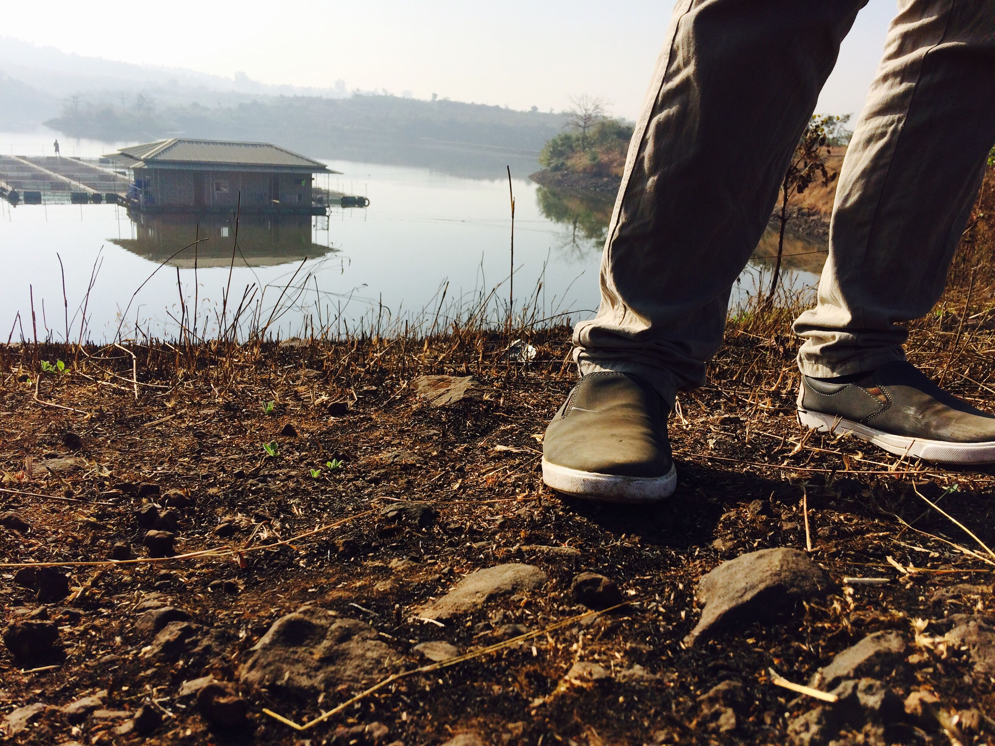 Water Low Section Real People Lifestyles Casual Clothing Human Body Part Shoe One Person Outdoors Human Leg Day Sky Nature People