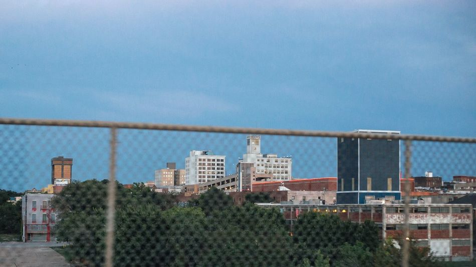 On the outside looking in Springfieldmo Springfield, MO Springfield Mo Skyline Skyline Gentrification Segregation  Fence City Urban Landscape Nightphotography