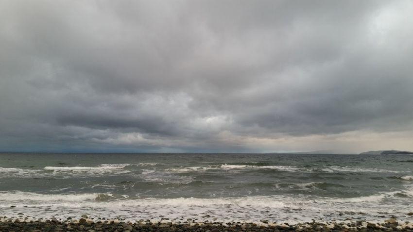 Storm Thunderstorm Storm Cloud Sea Beach Weather Rain Cloud - Sky Ominous Overcast Cloudscape Environment Nature Horizon Over Water Torrential Rain No People Coastline Dramatic Sky Scenics Outdoors