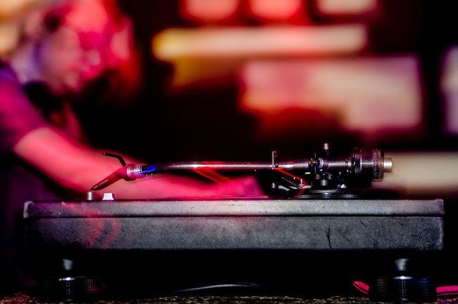 #club #DJLIFE #FirstPhoto #Vienna Favorite Places Focus On Foreground Hobbies Indoors  Nightlife Partying Till Sunrise Vinyl