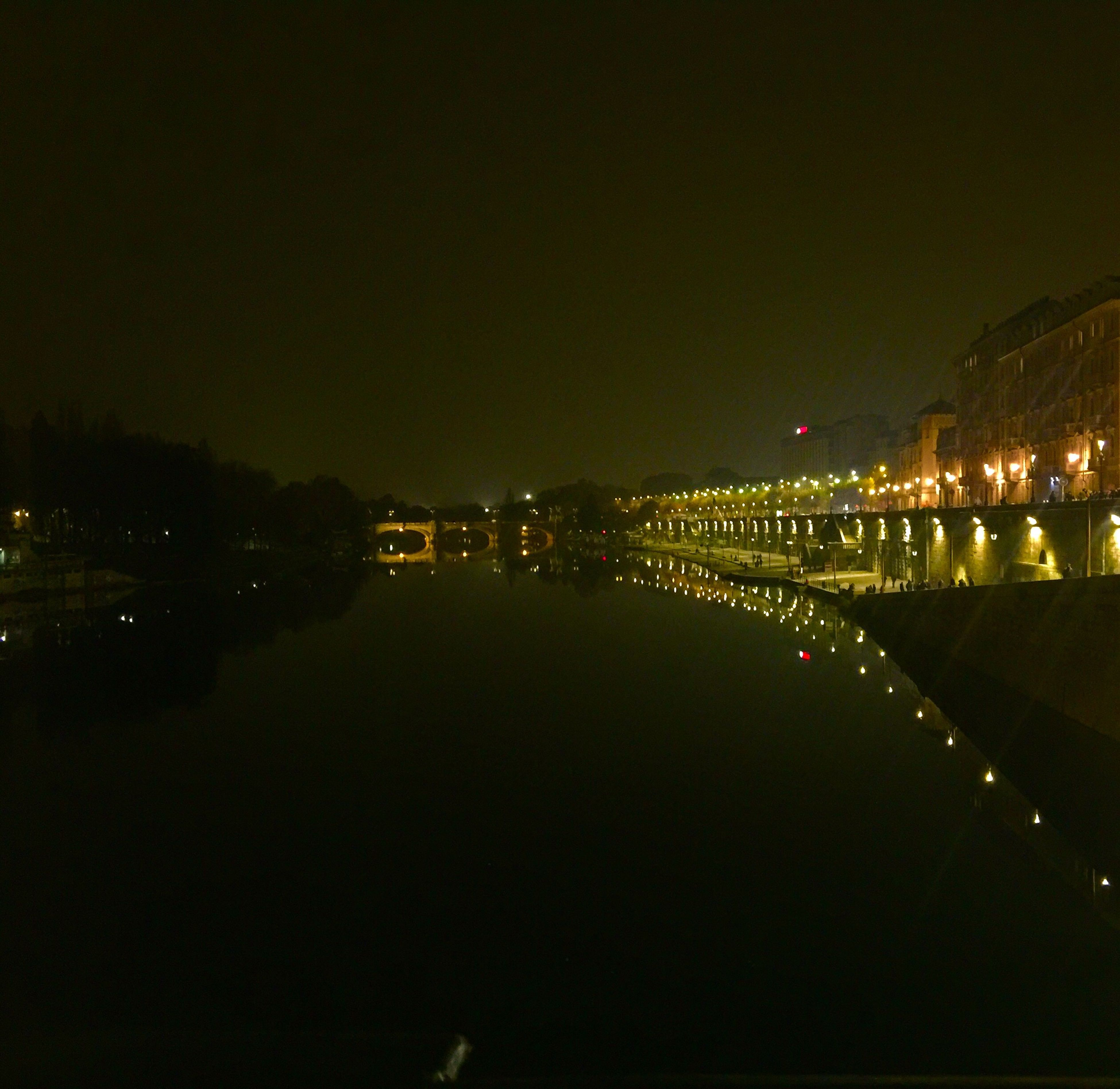 illuminated, night, reflection, architecture, built structure, city, transportation, water, river, building exterior, sky, bridge - man made structure, outdoors, no people, tree, cityscape, chain bridge
