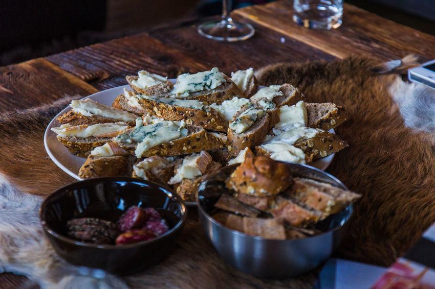 Blue Cheese Borrel Cheese Food Plate Still Life