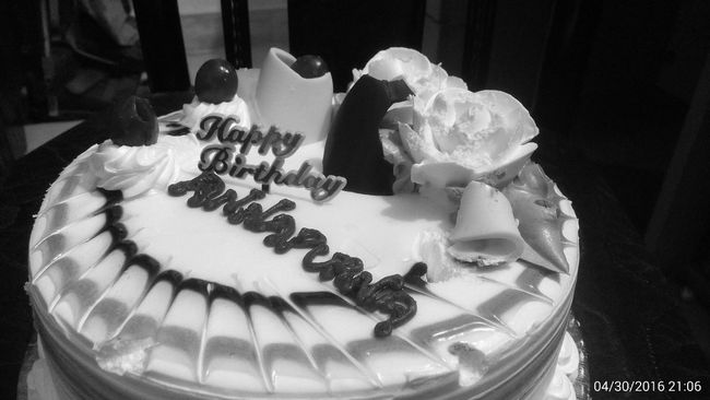Happy Birthday Mom! Birthday Cake ♥ Taking Photos ❤ Loved It ♥` Yummie! Pineapple Cake Had Fun Together