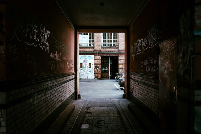 Kreuzberg backyards Absence Architecture Backyard Berliner Ansichten Brick Building Built Structure City Street Corridor Day Deterioration Diminishing Perspective Empty Exploring Narrow No People Old Buildings Old House Street Street Photography Streetphotography The Way Forward Urbex Walkway Way