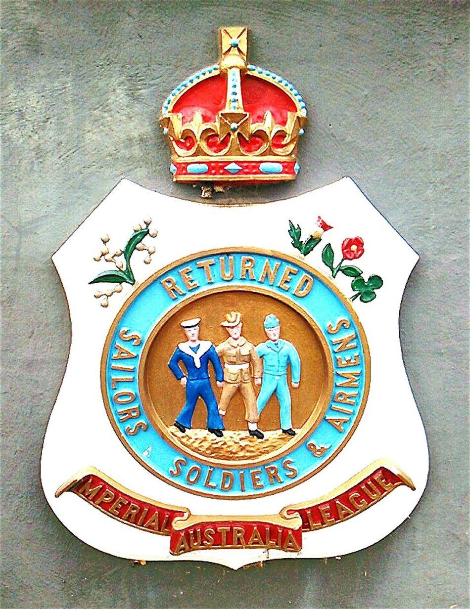 Imperial League Australia Plaque Emblem  Wall Plaque Australia Badges Membership War Badge Badge Of Honour South Australia, Adelaide RSL Memorial Rsl Adelaide, South Australia Adelaide Adelaide S.A.