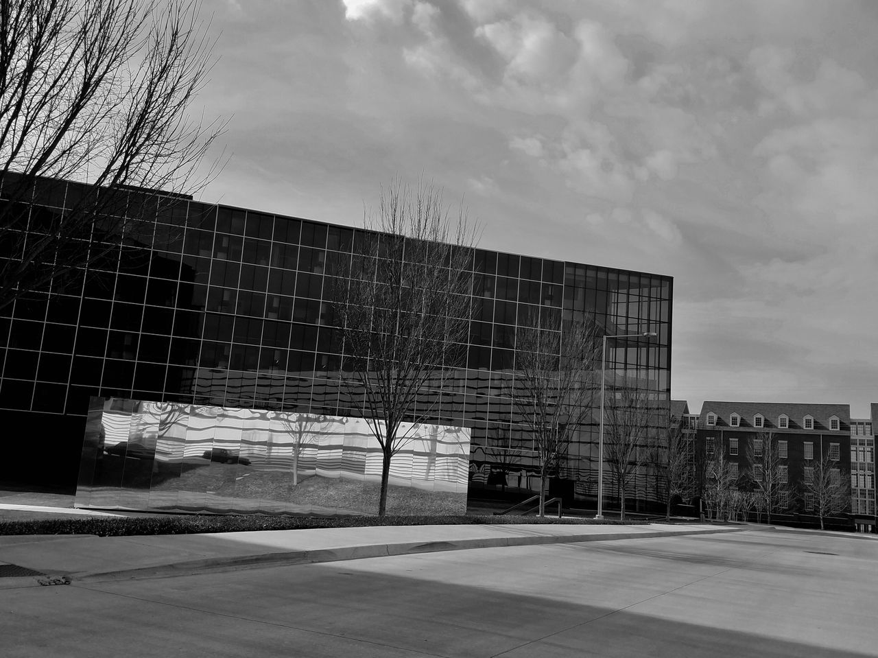 B&W Architecture Architecture Black And White Collection  Building Exterior Built Structure Cityscape Cloudy Skies Day Glass Building Modern MUR B&W No People Outdoors Reflection Sky Welcome To Black The Architect - 2017 EyeEm Awards