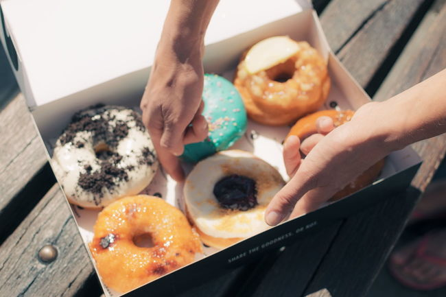 Box Dessert Donuts Food Food And Drink Hands Holding Lifestyles Ready-to-eat ShareTheMeal Sweet Food Tasty Temptation Unhealthy Eating