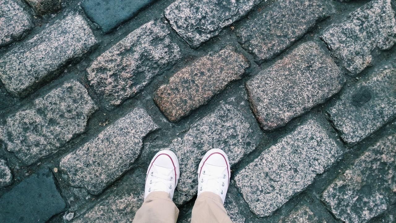 Shoeselfie MyShoes Groundlevel Ground Level View Bricks Brick Road Walking Around Sneakers Sneakerholics Everyday Life Enjoying Life EyeEm Gallery EyeemPhilippines Eyeem CDO Eyeemcagayandeoro Mobilephotography Lieblingsteil