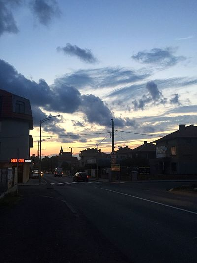 City Street Cars Road Sky Sunset Street Cloud Outdoors Sunrise_sunsets_aroundworld Sky_collection Colorful Sky And Clouds Colorful Sky Dramatic Sky Clouds And Sky Cloud