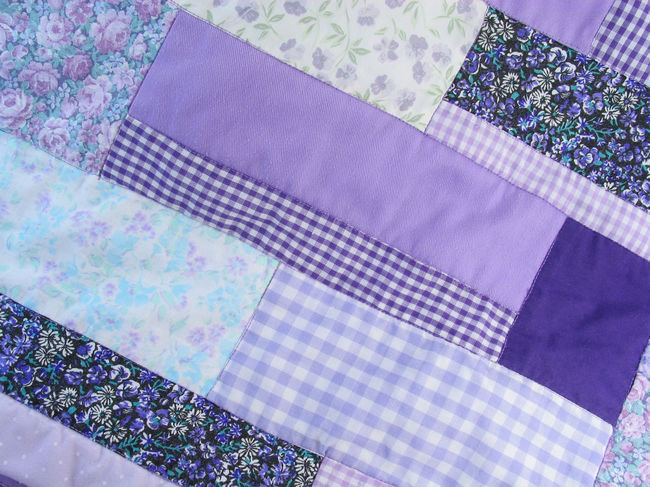Purple Patchwork Pattern Background Purple Patchwork Patchwork Quilt Textile Fabric No People Close-up Maximum Closeness Blankets Quilts
