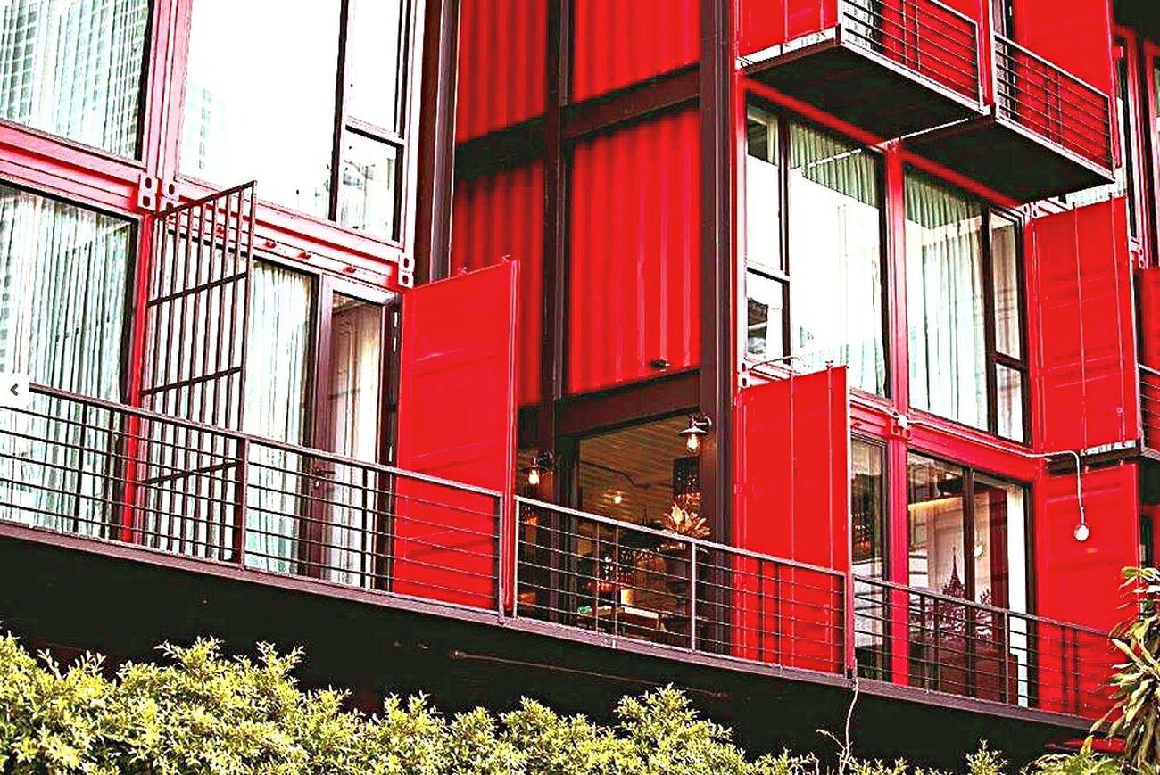 Sukhumvit 22 Sleepbox Red Window Built Structure Hostel