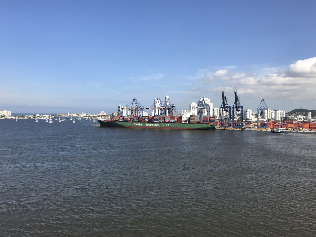 Business Business Finance And Industry Cargo Container Commercial Dock Container Ship Day Freight Transportation Harbor Industry Nautical Vessel No People Offshore Platform Outdoors Sea Ship Shipping  Sky Trading Transportation