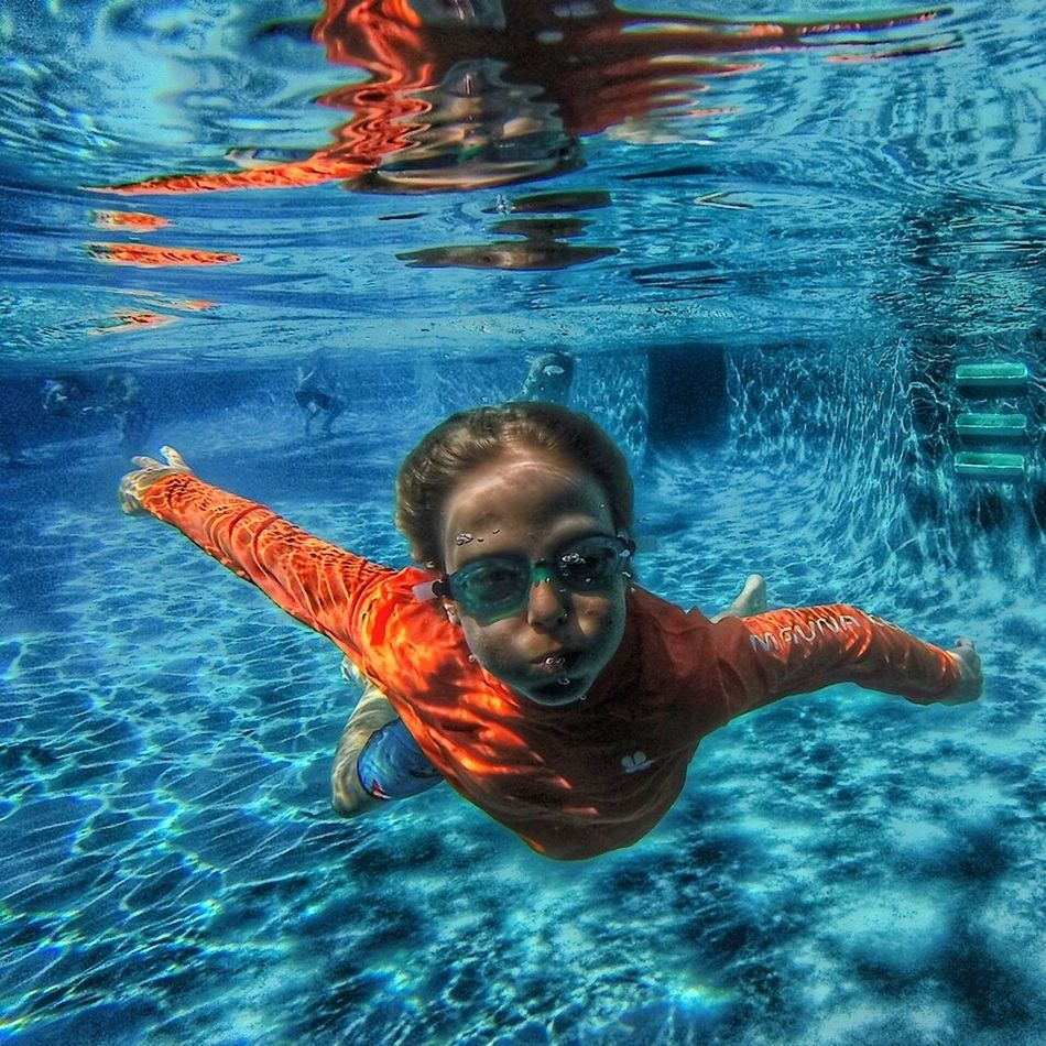 Beautiful stock photos of schwimmen, swimming, looking at camera, portrait, swimming pool