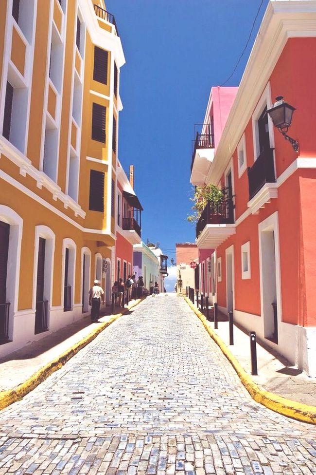 Old San Juan Street Beauty Love Puerto Rico People Walking