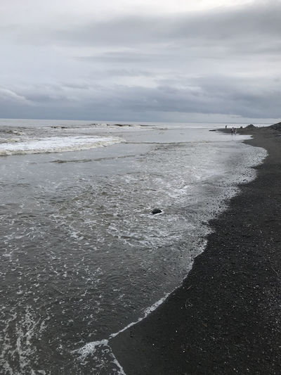 Bali, Indonesia Beach Beauty In Nature Black Sand Cloud - Sky Day Horizon Over Water Nature No People Outdoors Sand Scenics Sea Sky Tranquility Water Wave