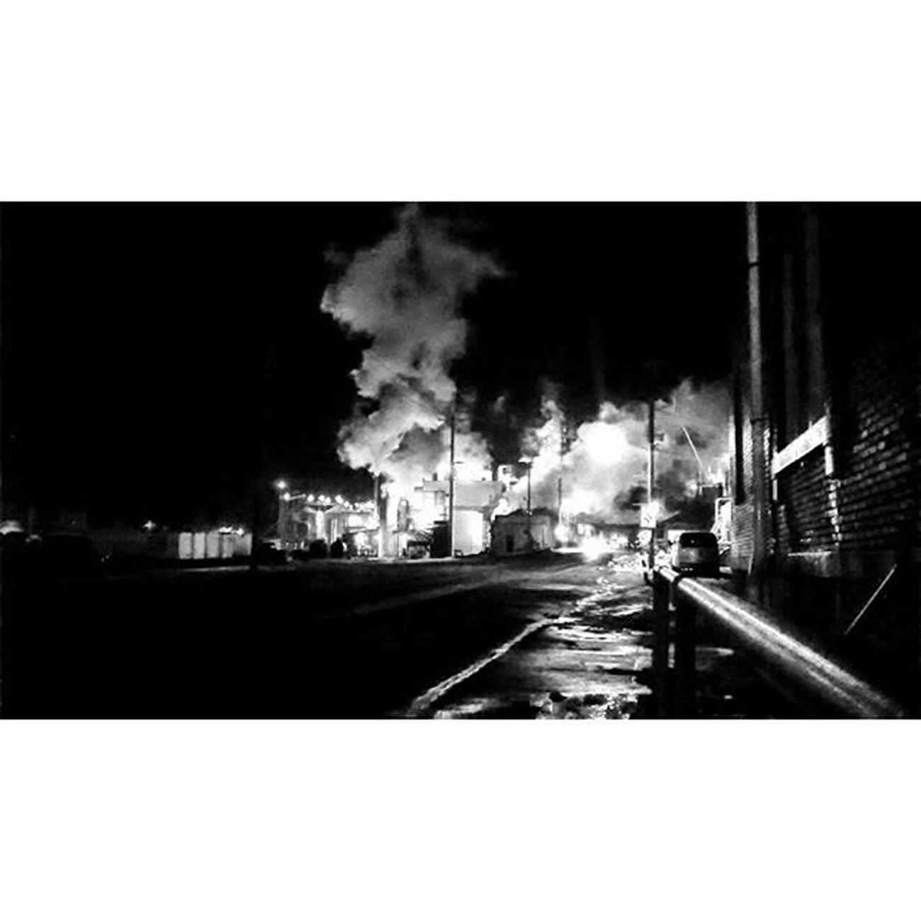 Night bnw of Midwest Grain in Atchison Kansas..... Ks_pride Night Nightphotos Bnw_night Wow_america_bnw Wow_america Instamood Trb_bnw Nightphotography Bnw_captures Bnw Igersbnw Blackandwhite Blancoynegro Light