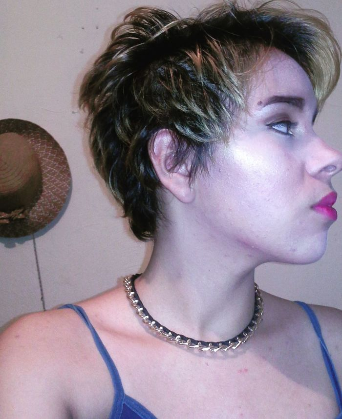 fun with makeup Makeup Pixiecut Playing With Makeup Nightshot Selfie