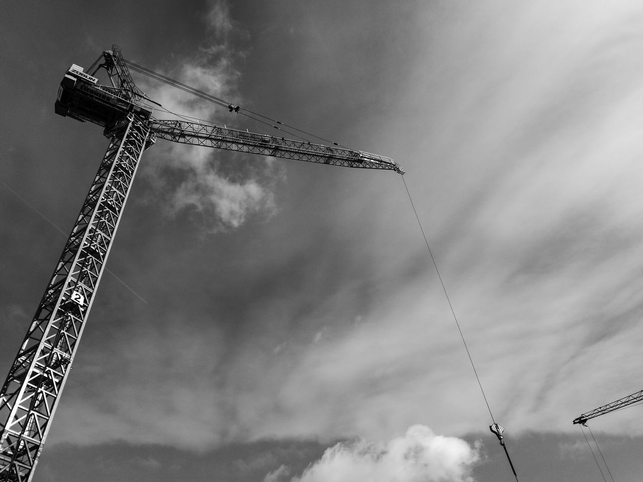 Cloud - Sky Construction Construction Machinery Construction Site Crane Crane - Construction Machinery Day Low Angle View No People Outdoors Sky