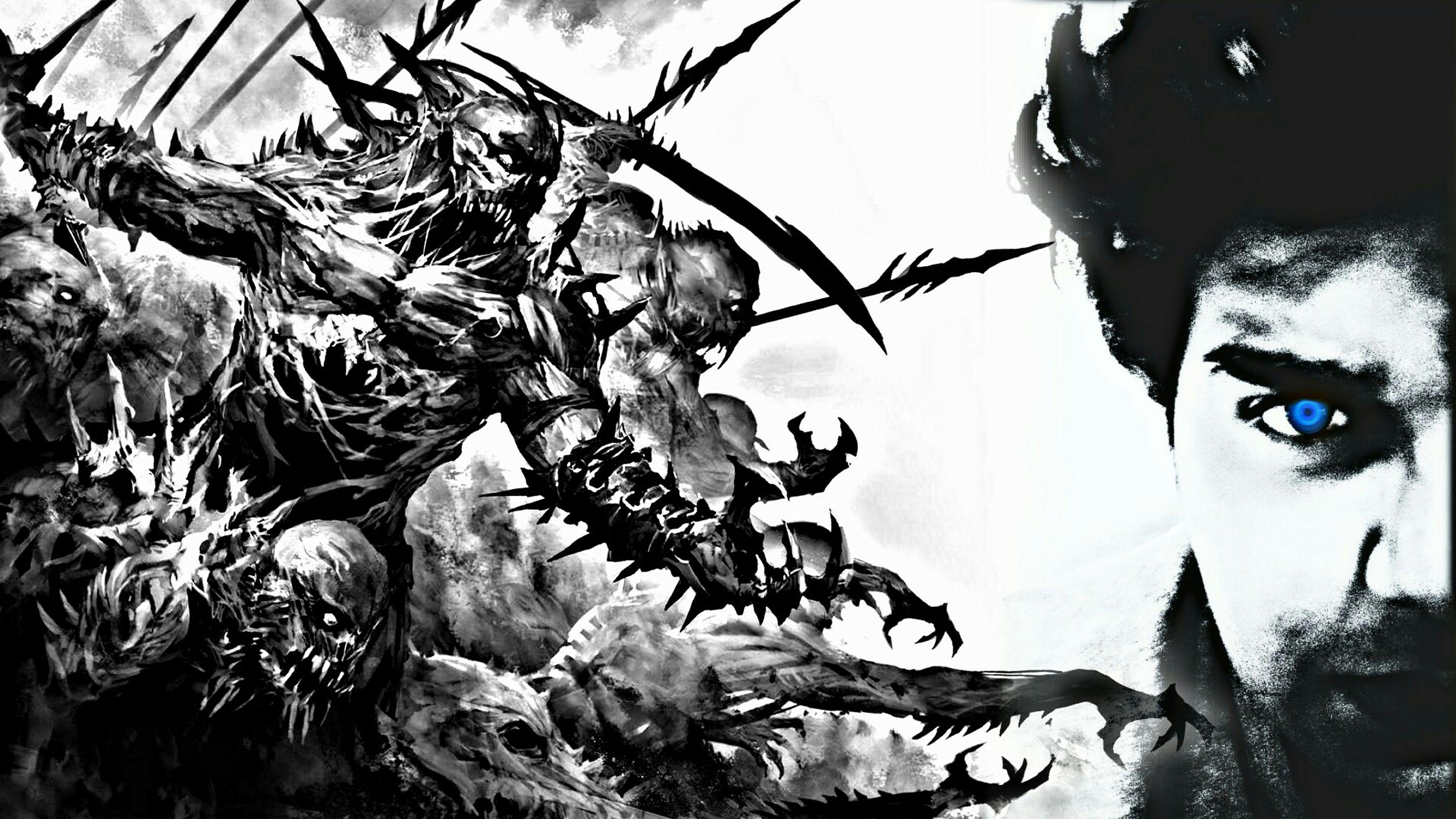 Edited Blackandwhite Edition Devil Eyes DevilLook Tum Devil K Piche Devil Tumare Piche