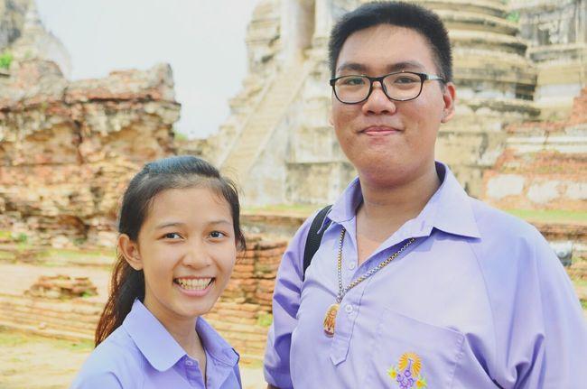 My Friend Just Smile  In Thailday Ayutthaya   Thailand
