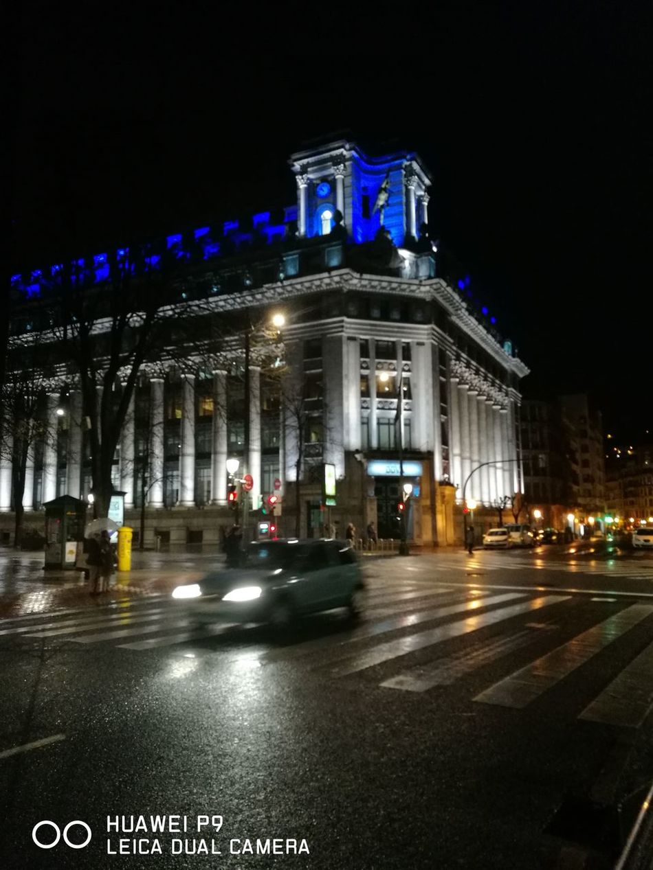 Night Architecture Built Structure City Illuminated Building Exterior Basque Country Colours Taking Photos Bilbaolovers City Nofilters