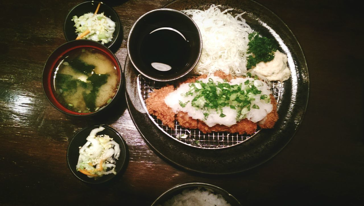 Food Table Food And Drink High Angle View Ready-to-eat Japanesefood Pork