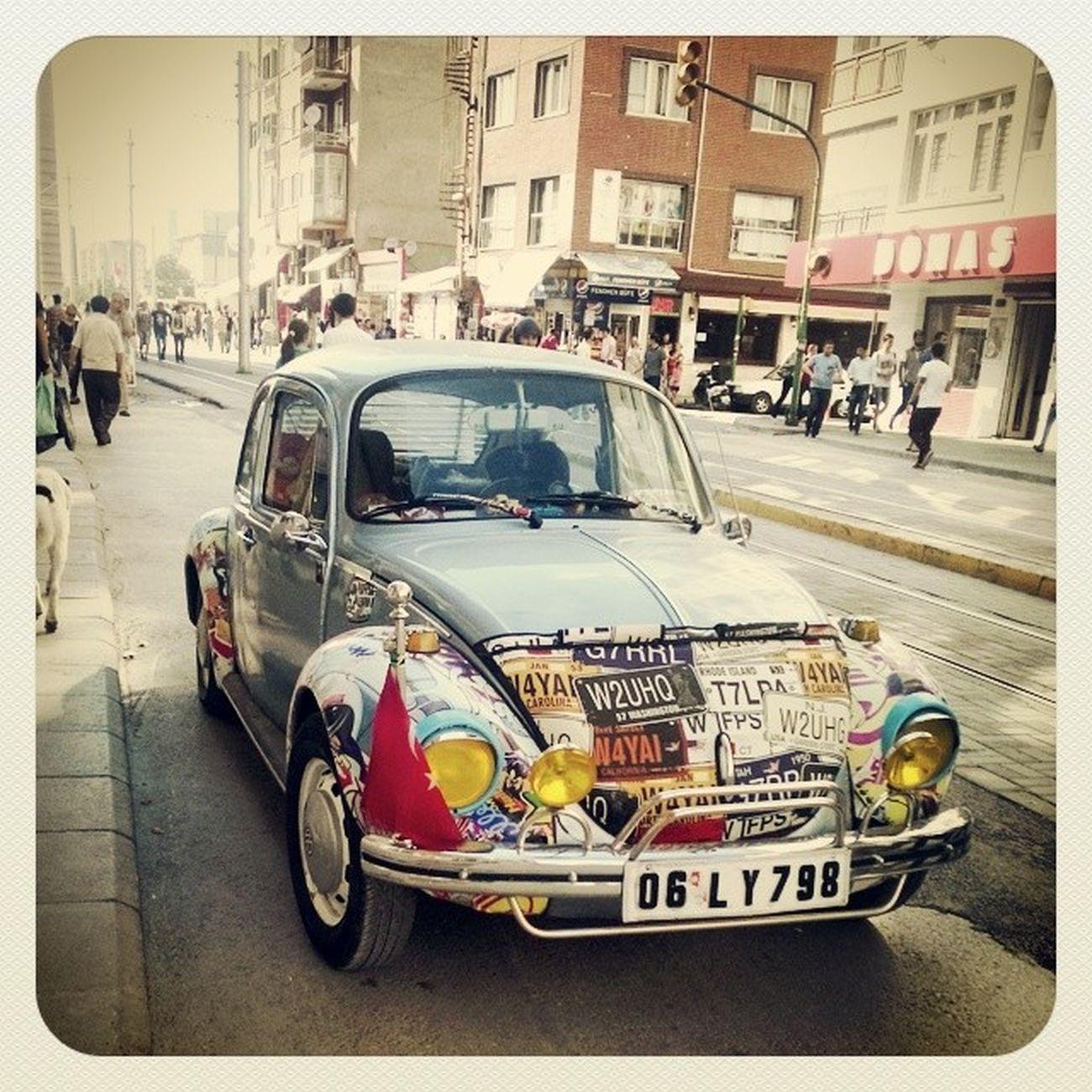Vosvos ' un tatlılığına bakar mısınız :) Gezginvosvos Eskişehir ' de bir Ankara ' lı daha :) Car Cute Traveller Volkswagen Picoftheday Instagood