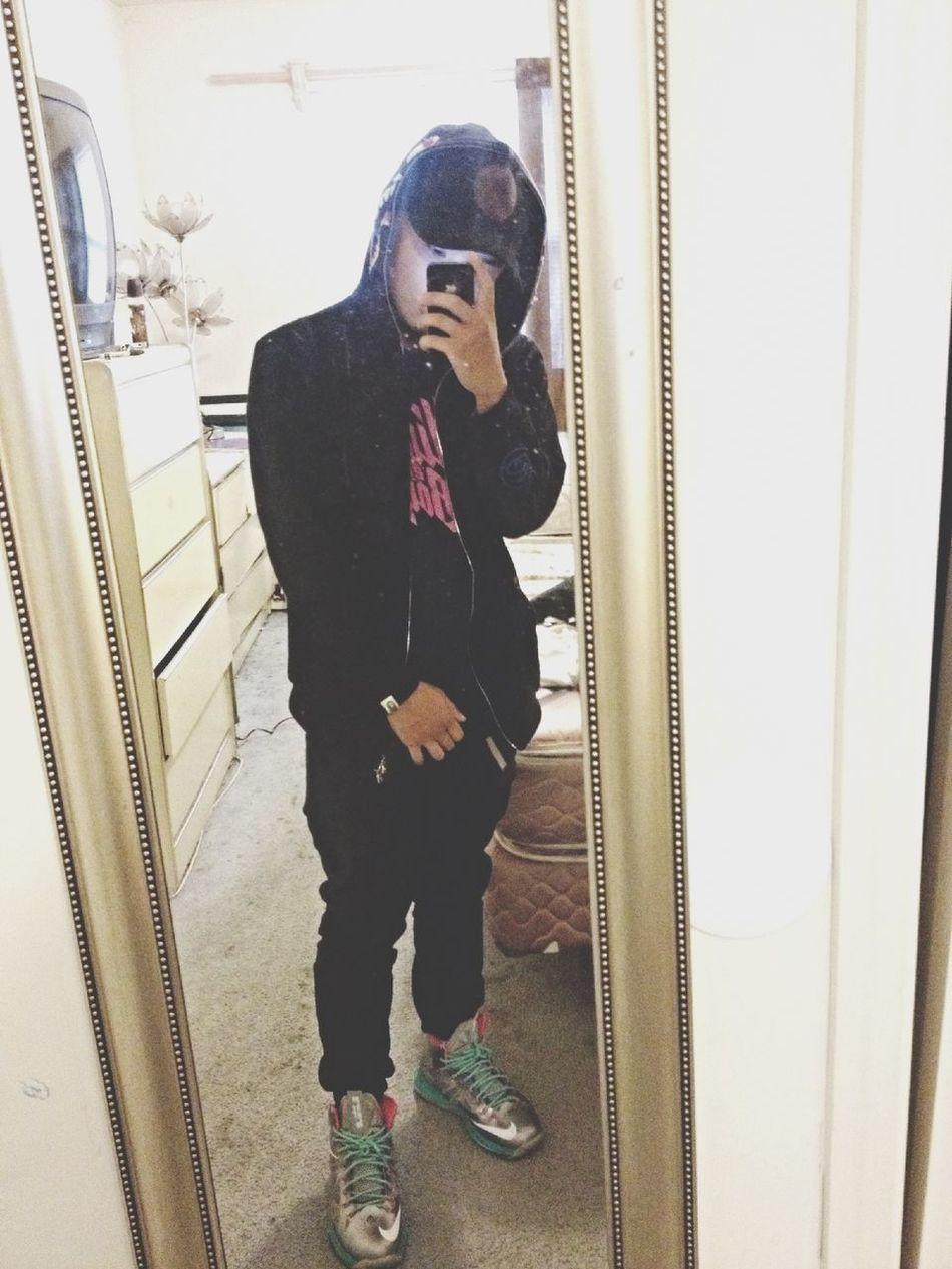 All black,pop out Bape BBC Nikeid Lebrons