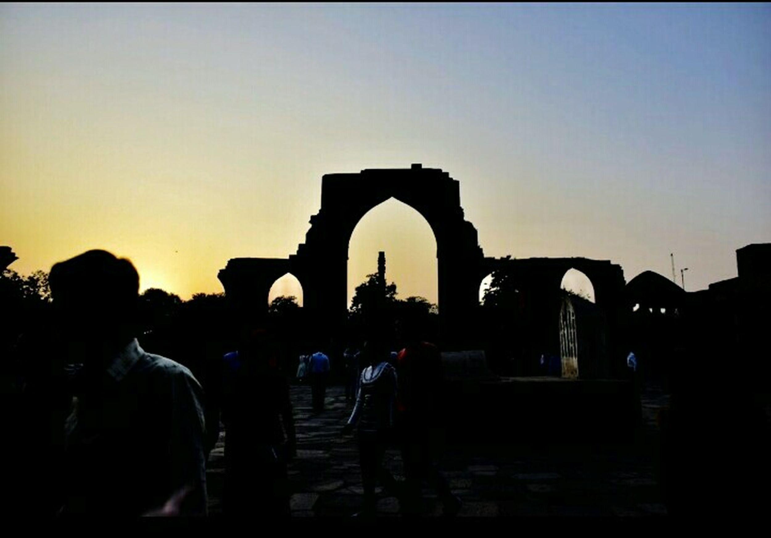 The Street Photographer - 2017 EyeEm Awards Ancient Civilization Sculpture Old Ruin Ancient History Architecture Travel Destinations Qutab Minar Iron Pillar Sunset