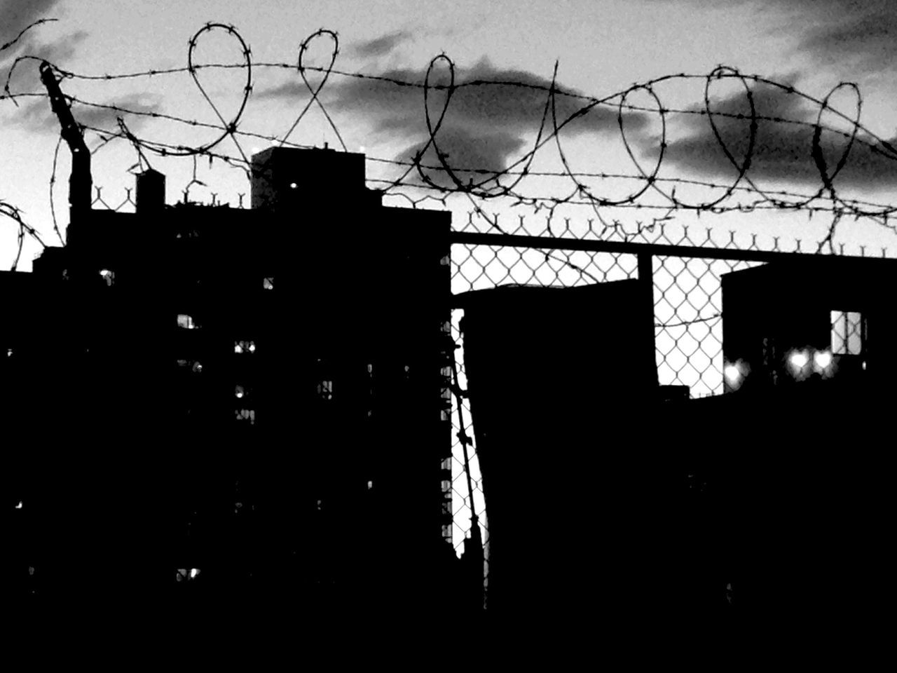 Lower East Side Manhattan Rooftop Summer Sky  Clouds And Sky Barbed Wire Security Fear Separation Blackandwhite Black & White Urban Landscape Urbanphotography