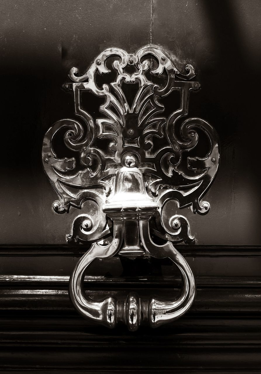Close-Up Of Ornate Door Knocker
