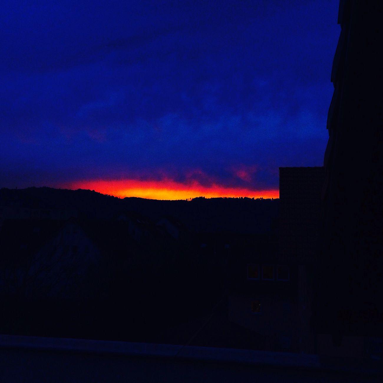 Sun Sunrise Red Orange Blue Sky Amazing First Eyeem Photo