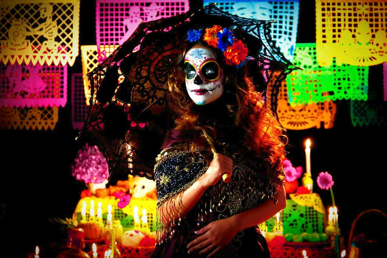 Celebration Mask - Disguise One Person Adult Fashion Photography Dıa De Muertos Glamour Catrinamakeup Catrina Uniqueness Fashion People Women Around The World