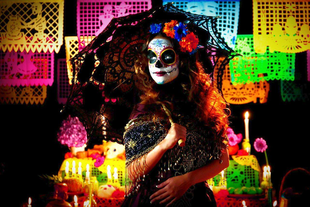 Celebration Mask - Disguise One Person Adult Fashion Photography Dıa De Muertos Glamour Catrinamakeup Catrina Uniqueness Fashion People