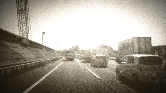 Retro Style Hiway Black And White Photography No People 安全運転 Safety First!