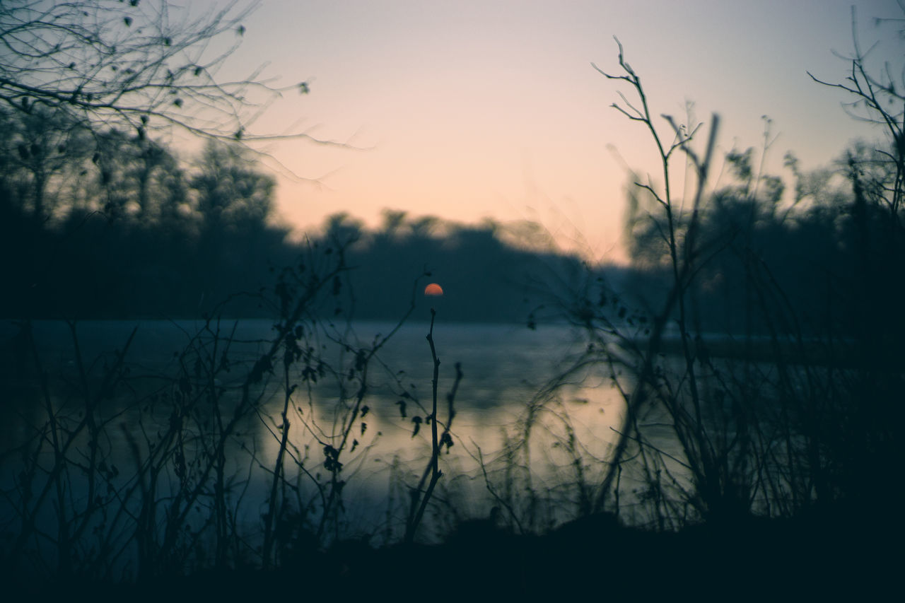 First Sunset 2017! Happy New Year! Beauty In Nature Grass Landscape Nature No People Outdoors Sunset Tranquil Scene Water