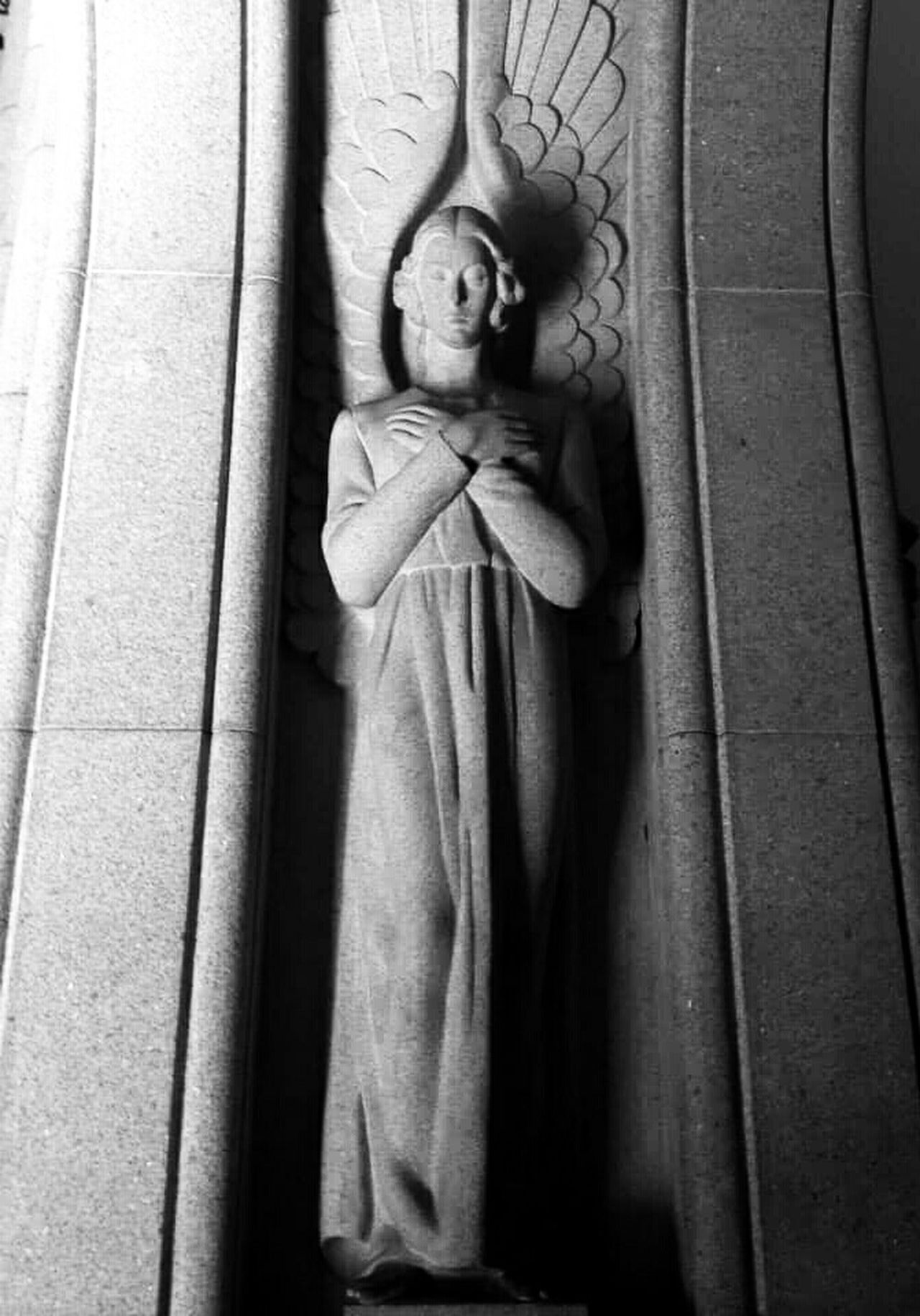 Angel Sacred Places Black And White Blackandwhite Black & White Sacred Sculpture