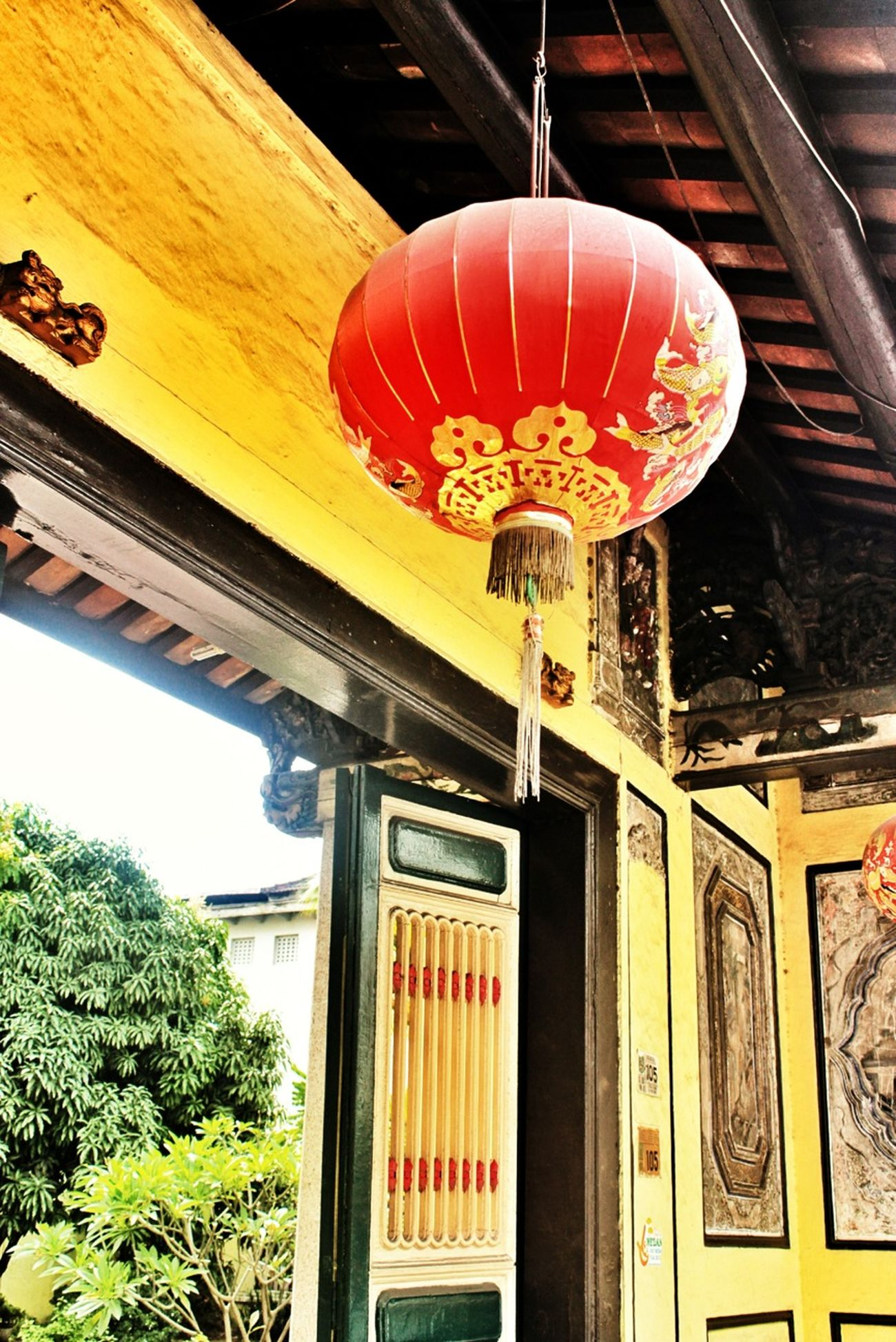 Red Lampion at Tjong A Mansion, Medan Sumatra Indonesia