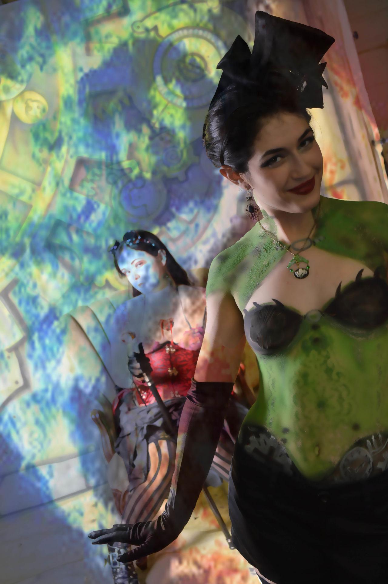 Beautiful Woman Bodyart Bodypaint Cosplay Indoors  Magic Magic Hands Portrait Trance Two People Women