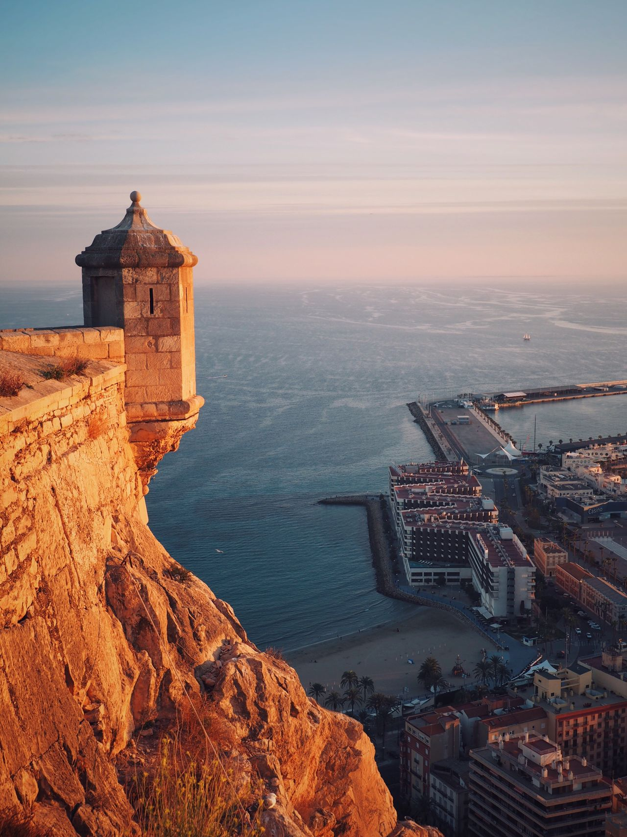 Sea Building Exterior Built Structure Architecture Water Sky Tower No People Outdoors Beauty In Nature City Horizon Over Water Nature Scenics Cityscape Day Scenic Lookout Sky And Clouds Sea And Sky Sunset SPAIN
