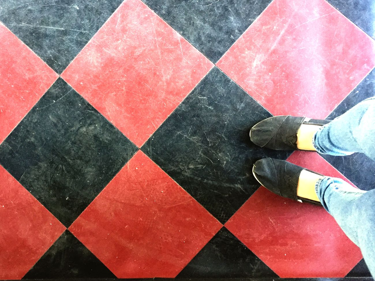 Harley Quinn? Black And Red College Toms