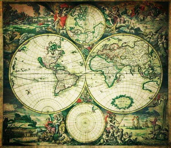 1986 Dünya haritasıı..
