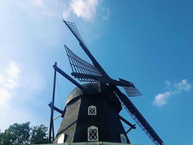 Windmill Blue Sky