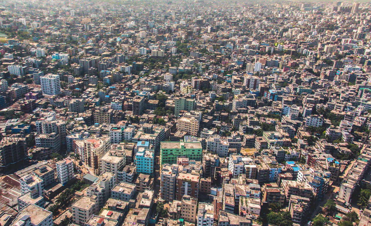 Aerial Aerial View Architecture City Cityscape Day Dhaka Downtown Flying High No People Outdoors Travel Destinations