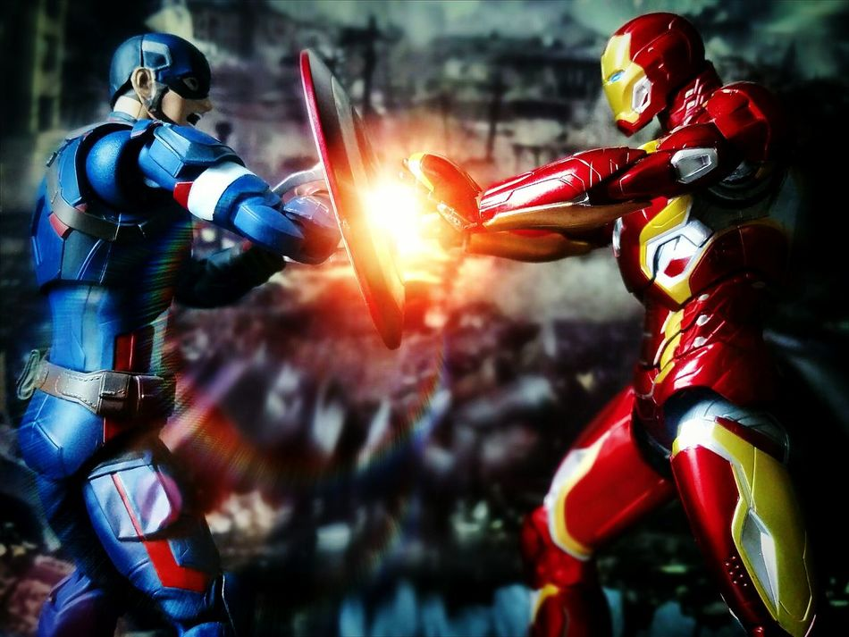 Civil War Super Heroes  Action Figures Toy Photography BANDAI Shf Sh Figuarts Captain America Iron Man Toys Marvel Civil War Tamashiinations Heroes