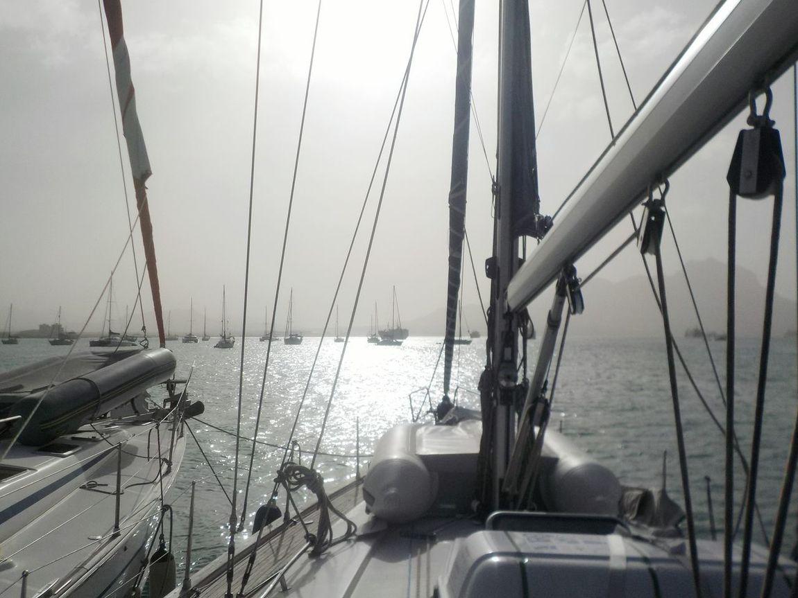 Sailing Trip Sailing Ship Sailing Vessel Harbour Sailing Away Mindelo Cap Verde