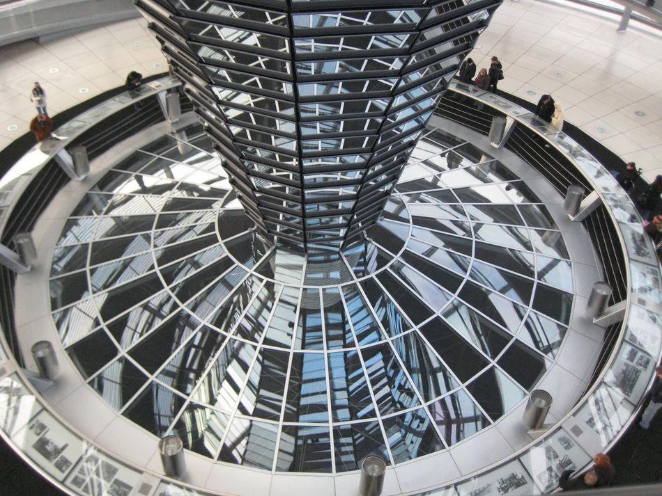 Berlin Glass Mirrors Reflection Reichstag Reichstagskuppel