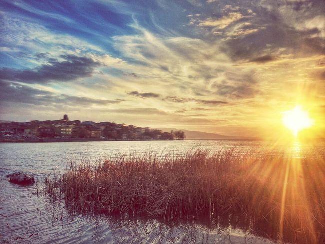 Lake Sun Sun-collection Sun Set Türkiye-Bursa-Uluabat Gölü
